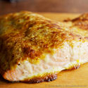 Oven Roasted Salmon with Parmesan