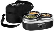 Crock-Pot SCRMTD307-DK 16-Ounce Little Triple Dipper, Silver and Black