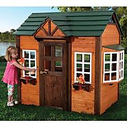 Best-Rated Children's Wooden Outdoor Playhouses For Sale - Reviews And Ratings (with images) · PeachCobbler