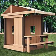 Kidwise Congo Clubhouse with Picnic Table - - Best-Rated Children's Wooden Outdoor Playhouses For Sale - Reviews And ...