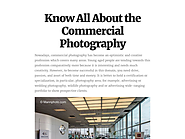 Know All About the Commercial Photography