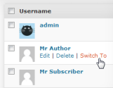 "WordPress › User Switching "" WordPress Plugins"