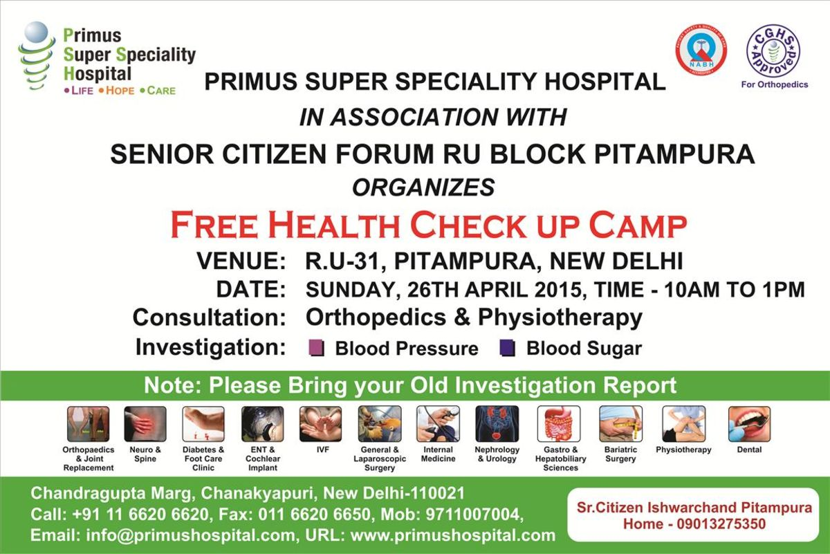 Headline for FREE HEALTH CHECK-UP CAMP