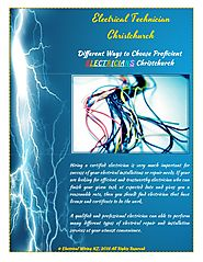 Different Ways to Choose Proficient Electricians Christchurch