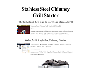 Stainless Steel Chimney Grill Starter