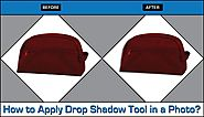 How to Apply Drop Shadow Tool in a Photo