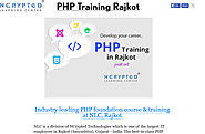 'PHP Training Rajkot' from 'IT Training Programs Rajkot' by NCrypted Learning Center