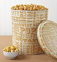 Caramel Lovers Popcorn Tin from THEPOPCORNFACTORY.COM