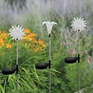 Solar Flower LED Light at Garden and Pond Depot