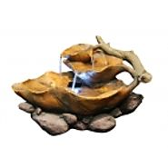 "9""Tall Tabletop Leaf Fountain with LED Lights at Garden and Pond Depot"