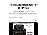 Extra Large Recliners For Big People