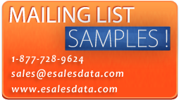 Headline for eSalesData - Mailing Lists