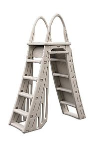 Confer Plastics A-Frame 7200 Above Ground Adjustable Pool Roll-Guard Safety Ladder