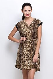 Elisabetta Bartolli Glamourous Animal Print Dress