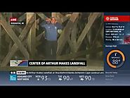 Hurricane Arthur Coverage (7/3/14 9pm-11pm) - The Weather Channel