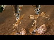 How to Decorate Toasting Flutes With Shells : Wedding Planning