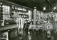 Thomas Edison's Menlo Park Laboratory in New Jersey, photographed on...