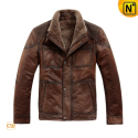 Brown Shearling Jackets CW819035 - cwmalls.com