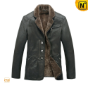 Mens Shearling Coat CW819076 - cwmalls.com