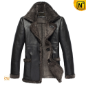 Sheepskin Shearling Coat Men CW819436 - cwmalls.com