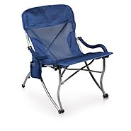 Picnic Time PT-XL Portable Extra-Wide Camp Chair, Navy