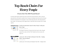 Top Beach Chairs For Heavy People