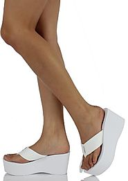 Soda Women's Oxley Flip Flop Thong Platform Wedges Sandals Eva 3""