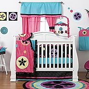 Turquoise Baby Girl Crib Bedding