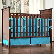 Solid Turquoise 3-Piece Crib Bedding Set