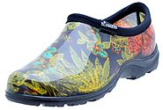 "Sloggers Women's Rain and Garden Shoe with ""All-Day-Comfort"" Insole, Midsummer Black Print - Wo's size 9 - Style 5102..."