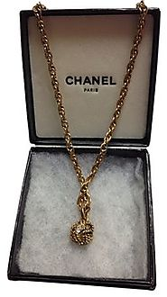 Chanel Antique Gold Gilt Rhinestone Rope Design Choker Necklace