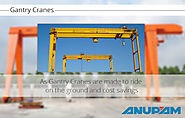 Gantry cranes and machines for multipurpose usage