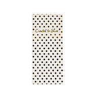 "3.5"" x 8"" Gold Shimmer Covered Note Pad Pressley - Mary Square"