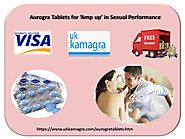 Easily develop harder and longer erections during any love-session with Aurogra tablets