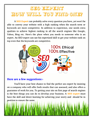 How Will You Find SEO Expert?
