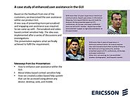 A case study of enhanced user assistance in the GUI