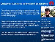 Customer-Centered Information Experience