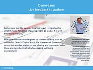 Demo-Jam: Live feedback to authors