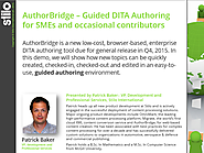 AuthorBridge - Guided DITA Authoring for SMEs and occasional contributors