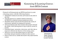 Generating e-learning courses from DITA content