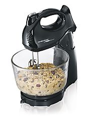 Hamilton Beach 64698 Power Deluxe Hand/Stand Mixer Black