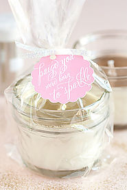 DIY Glitter Soy Candles