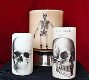Gina Michele: DIY Printed Halloween Candles