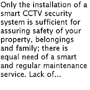 Features of a Smart Maintenance Service of a CCTV Security System