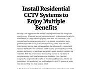 Install Residential CCTV Systems to Enjoy Multiple Benefits