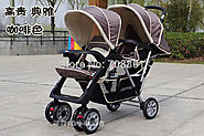 Baby carriage, Shenma twins stroller, baby car baby stroller, super suspension foldable 2 seat stroller