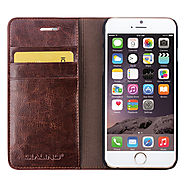 QIALINO Classic Wallet Leather Case For iPhone 6 4.7 Inch - Qialino