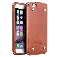 QIALINO Leather Back Case for iPhone 6 4.7 - Qialino