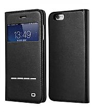 QIALINO Leather Case for Iphone 6 4.7 Inch with Touch & Sensing Strip - Qialino