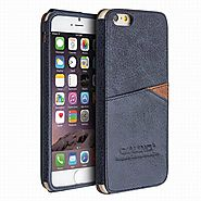 QIALINO Leather Back Case for Iphone 6 4.7 Inch with Card Holder - Qialino